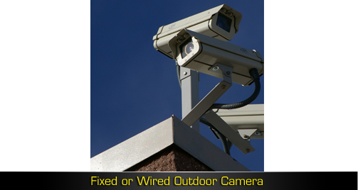 Fixed or Wired Outdoor Camera